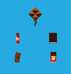 flat icon cacao set of chocolate bar wrapper vector image