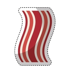 fresh bacon isolated icon vector image
