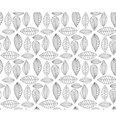 Hand drawn seamless pattern with leaf vector image