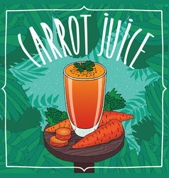healthy fresh carrot juice with root vegetables vector image