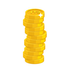 heap gold coins vector image vector image