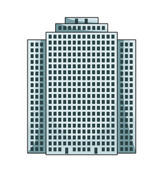 High-rise building skyscraperrealtor single icon vector