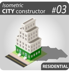 Isometric city constructor - 03 vector image
