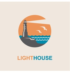 lighthouse icon design vector image vector image