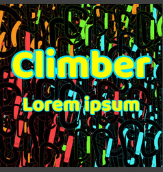Logo for shirts climber abstract background vector