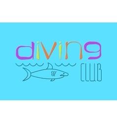 logo Scuba Diving vector image