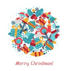 Merry Christmas holiday background for invitation vector image vector image