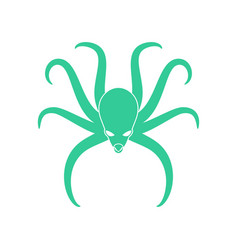 octopus isolated poulpe on white background sea vector image vector image
