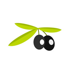 olives icon flat style vector image vector image