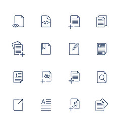 Paper icon document icon eps10 vector