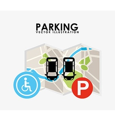 parking service design vector image