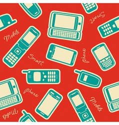 Seamless mobile devices background vector image vector image
