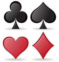Simple design of poker symbols vector image