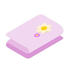 Stack of towels 3d icon vector