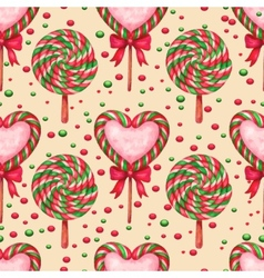 sugar candies seamless background vector image