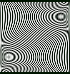 Abstract black and white background of wavy lines vector