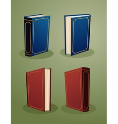 Books in various angle copy vector