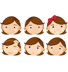 Brown hair girl vector image