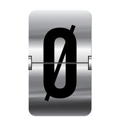 Alphabet silver flipboard letters oe vector image