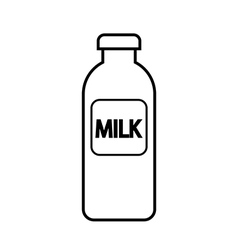 Milk bottle icon vector