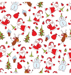 Christmas seamless 3 vector image