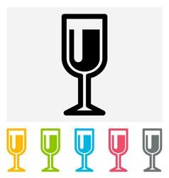 Wineglass icon vector image