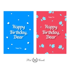 Happy birthday dear tender and cute greeting vector