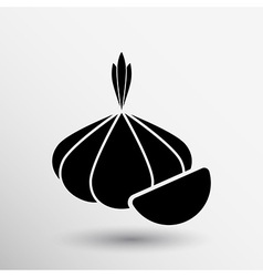 Garlic agriculture food healthy icon isolated line vector