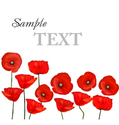Background with red poppies vector