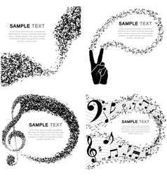 Set of musical design vector