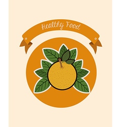 Organic and healthy food vector