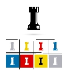 Chess rook icon vector image