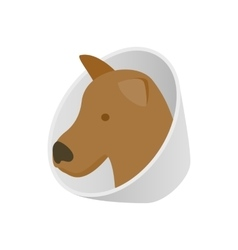 Dog in neck brace icon isometric 3d style vector