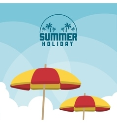 Summer design sky and umbrella icon vector