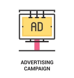 advertising campaign icon concept vector image