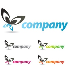 beautiful corporate logo design for your business vector image