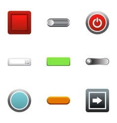 Click button icons set flat style vector
