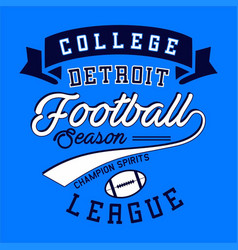 College football league vector