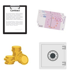 Contract safe money vector image
