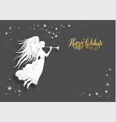 Dark holiday card vector