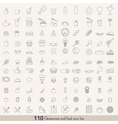 Food line icons vector image