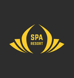 golden spa resort logo vector image