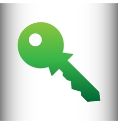 Key sign green gradient icon vector