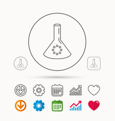 Laboratory bulb or beaker icon chemistry sign vector