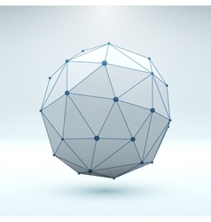 Mesh polygonal element Sphere with connected vector image vector image