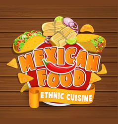 Mexican food logo vector