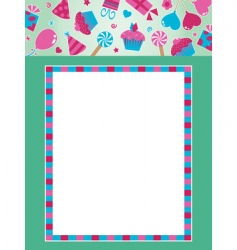 party frame with banner vector image vector image