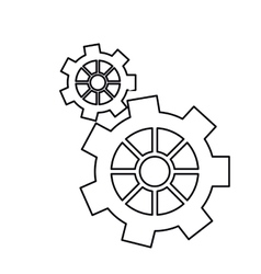 Pictogram gear wheel engine machine icon vector