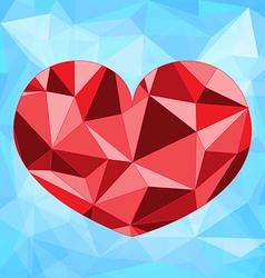 Polygonal heart design vector image