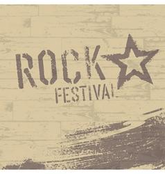 rock star symbol vector image